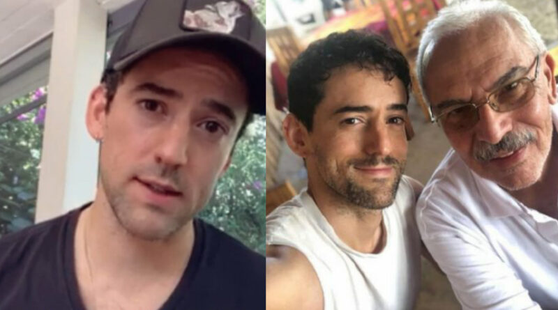 """La desoladora despedida del actor Luis Gerardo Méndez a su padre """"se lo llevó el bicho"""""""